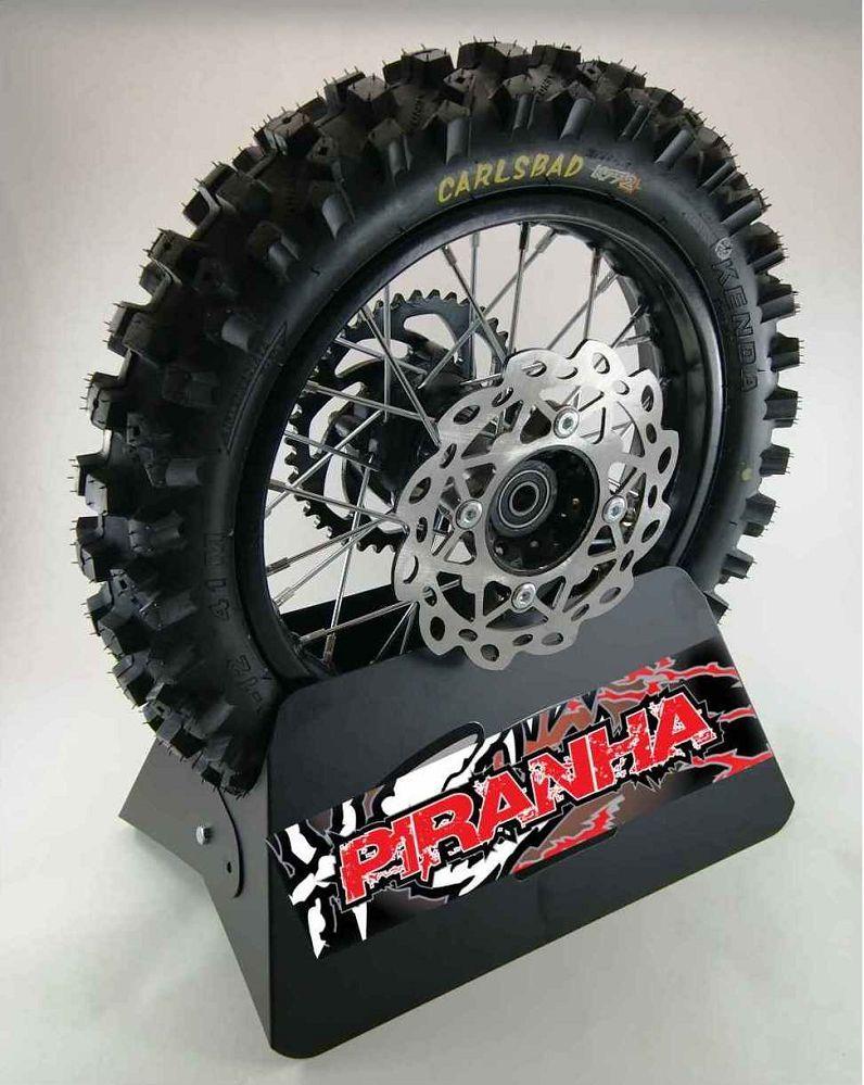 12 Piranha Pit Bike Rear Wheel Rim Tire Sprocket Disc
